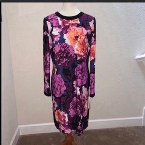 Eliza J Long Sleeved Floral Dress Size 10